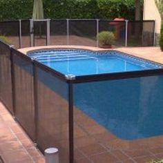 segurbaby.valla de seguridad infantil negra para piscinas