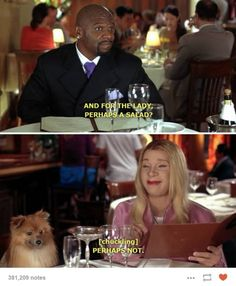 White Chicks/funny quotes/salad for the lady ... hell no!