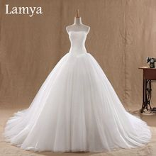 0.8M Court Train Wedding Dress 2016 Cheap Celebrity Strapless Vintage Tulle Bridal Ball Gown Organza Lace bridal dresses D-14018(China (Mainland))