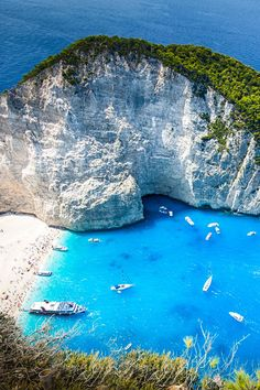 Shipwreck Cove in Zakynthos, Greece