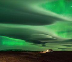 Auroras on clouds