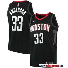 177a9158c106 Men s Nike Houston Rockets  33 Ryan Anderson Black NBA Swingman Statement  Edition Jersey Basketball Jersey