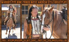 Warrior's Pipe Bone Fringed Breastplate From Tribal And Western Impressions - Old West Cowboy And Indian Store -  www.indianvillagemall.com