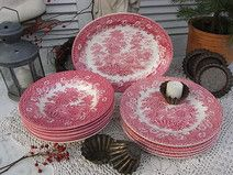 vintage Speiseservice 6 Pers. englische Keramik