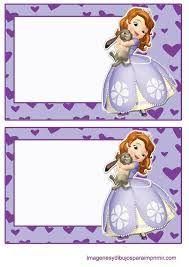 Resultado de imagem para etiquetas para imprimir princesa sofia