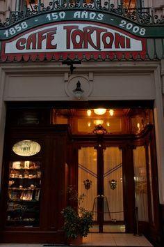 Buenos Aires Café Tortoni via Nana Bm Latin America, South America, Coffee Shops, Argentine Buenos Aires, Places Around The World, Around The Worlds, Places Ive Been, Places To Go, Argentina Travel