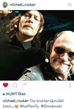 Norman Reedus, Michael Rooker from @michael_rooker on instagram.