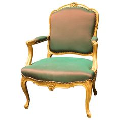 Louis XV Style Gilt Wood Fauteuil