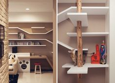 creative spaces designed for your cat Creative Spaces Created For Your Cat architecture Cat Climbing Shelves, Cat Climbing Tree, Pet Furniture, Design Furniture, Cat Years, Cat Scratching Post, Cat Enclosure, Cat Room, Cat Decor