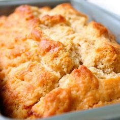 This is AWESOME! Honey Beer Bread Recipe! 3 cusps flour, 2 TBS sugar, 1 TBS baking powder, 1 tsp salt, mix, then add 12 oz beer (I use 7-up) and 2-3 TBS warmed honey. Melt 4 (or more) TBS butter, pour half in the loaf pan, dump in batter, pour rest of butter on top, and bake at 350 for 1 hour. How easy it THAT!!!