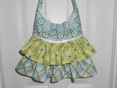 Ruffled Hobo Pursein Daisies Plaid and by ItsSewDarnCute on Etsy, $25.50