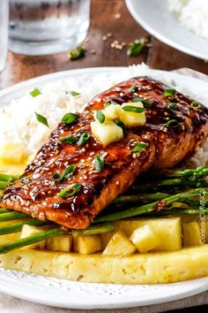 This Sweet and Tangy Asian BBQ Salmon #recipe is so quick & easy! You'll love the delicious final product.