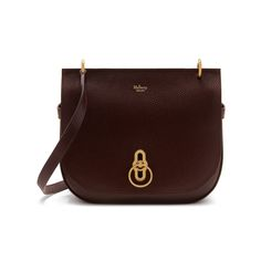 Mulberry - Amberley Satchel in Oxblood Natural Grain Leather