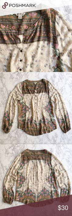 Lucky Brand floral top Pre-loved in great condition! This floral print top from Lucky Brand is insanely soft and looks great with jeans. Lucky Brand Tops