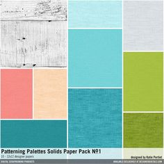 Patterning Palettes Solids Paper Pack No. 01 textured solid colored cardstock papers #designerdigitals