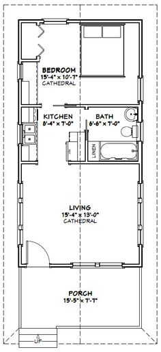 10 Best 16x32 Floor Plans Images Tiny House Plans Small