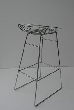 Anonymous; Chromed Metal Barstool by Tomado, 1950s.