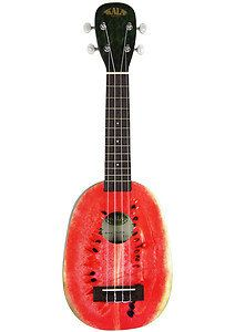 I'm not going to lie--whenever I go to the music store, I always find myself fiddling with the watermelon ukes. They don't sound great (they're cheapish), just all right, but they're so freaking cute.