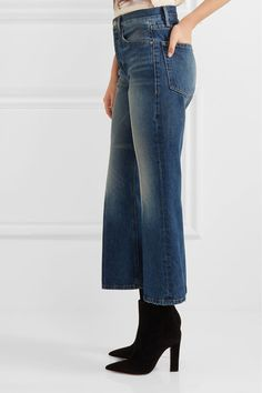 FRAME - Rigid Re-release Le Cropped High-rise Slim-leg Jeans - Mid denim - 26