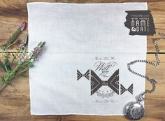 Ring bearer pocket square wedding proposal gift by PrintmadeStudio