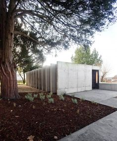 the new PINC Pavilion, built in a forgotten centennial garden, a romantic memory of the old Quinta do Mirante. The pavilion is drawn with an open and permeable structure, framed by existing trees. inspired by the images of the timeless ruins. it should merge with the garden over the time. Inside warm colours of wood based panels and the red doors fit a welcoming environment. At night, this environment expands to the garden via the warm light through glass surfaces.