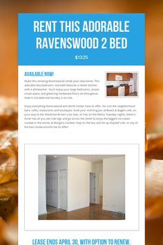 Rent this Adorable #Ravenswood 2 Bed. #Chicago