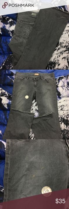 🔥 Paige Gray Laurel Canyon Bootcut Denim Jeans Paige Denim Jeans  there  is some minor staining on the front,Please Refer to the Pictures  Size 32  Measurements:   • Waist - 17.5 (35) in  • Rise - 8.5 in  • Inseam - 34 in  Thank You for checking Out This Item :) , Be sure to add other Items from my Closet to Your Bundle before you Checkout for 10% off your order!  Fishman15 - O19 Cross PAIGE Jeans