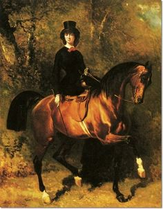 Sidesaddle society portrait by French artist Alfred de Dreux Horse Girl, Greek Art, Art, Artist, Drawing Images, Artwork, Horse Painting, Painting, Canvas Art Prints