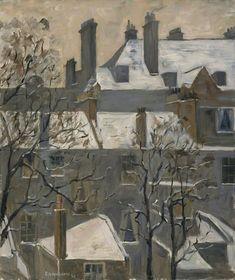"""huariqueje: """" Frebruary - Ethel Quixano Henriques ,1929. British, 1868–1936 Oil on canvas, 61.5 x 51.3 cm """""""