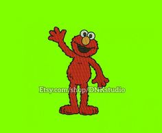 Elmo Machine Embroidery Design  This design manually made by hand, from start to finish. It is a digitized embroidery design for a buyer who has an embroidery sewing machine.  https://www.etsy.com/listing/480596298/elmo-machine-embroidery-design-6-sizes  #stitch #digitized #Sewing #Needlecraft #stitches #Embroidery #Applique #EmbroideryDesign #pattern #MachineEmbroidery #Elmo #sesamestreet #kids