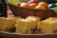 """""""Pasca"""" recipe - similar to a baked cheesecake made with cottage cheese, sour cream and eggs"""