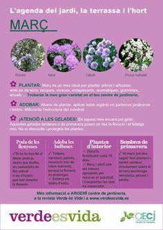 Agenda de març, tasques de jardineria per aquest mes.