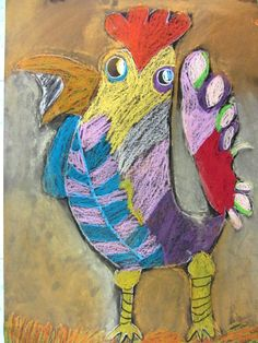 Picasso inspired roosters