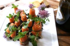 The Edible Spring Garden - Fancy Canapes for Melbourne Cup