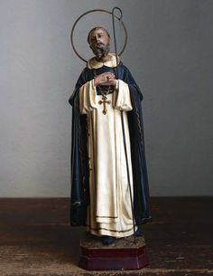 Etsy のSaint Dominic Dominic of Osma Religious Art Statue Antique Spain Olot /187(ショップ名:GliciniaANTIQUE)