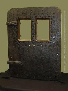 TITANIC'S STEEL DOOR: This was the door First Class passengers would have gone through to board Titanic for Her maiden voyage.