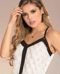 BLUSA ARRECIFE DEL CATALOGO DE ROPA TYT 8419 Formal, Camisole Top, Tank Tops, Women, Fashion, Bangs, Silhouettes, Black, Chic