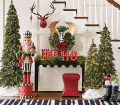 Celebrate the season in style with the selection of indoor and outdoor Christmas decorations at Grandin Road. Shop for unique Christmas decorations online. Classy Christmas, Merry Christmas, Christmas Home, Christmas Lights, Christmas Ornament, Christmas Holidays, Gingerbread Christmas Decor, Front Door Christmas Decorations, Farmhouse Christmas Decor