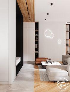 Project Warm | Minsk, Belarus on Behance Modern Luxury Bathroom, Modern Bathroom Design, Modern House Design, False Ceiling Living Room, Living Room Lighting, Living Room Inspiration, Interior Inspiration, Townhouse Designs, Kitchen Design Open