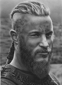 Ragnar Lothbrok by Maira Poli Vikings Ragnar, Travis Vikings, Wallpaper Vikings, Viking Wallpaper, Vikings Tv Series, Vikings Tv Show, Best Hairstyles For Older Men, Pop Art Marilyn, Viking Quotes