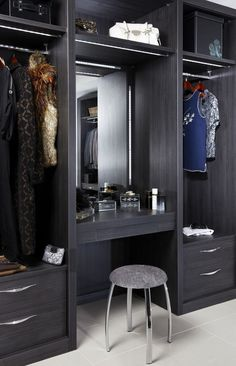 Bedroom Closet Design Built In Wardrobe Drawers 43 Ideas Wardrobe Storage, Wardrobe Closet, Built In Wardrobe, Closet Space, Closet Storage, Hanging Wardrobe, Wardrobe Drawers, Wardrobe With Dressing Table, Dressing Table Design
