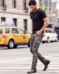 How to Pose Like a Top Male Model image Neiman Marcus Fall 2014 Menswear Fashions Noah Mills 004 Clothing 4 Men
