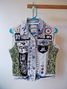 Punk Vest // Seventies Punk 1st Wave // by kreepshowkouture