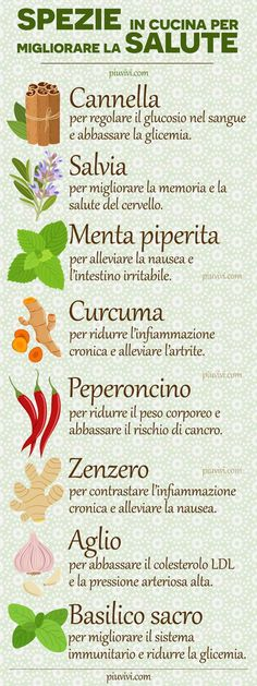 Spices In The Kitchen To Improve Health: Cinnamon, Sage, … – Health and Wellness Healthy Life, Healthy Eating, In Natura, Love Eat, Nutrition Information, Fett, Food Hacks, Food Art, Natural Health