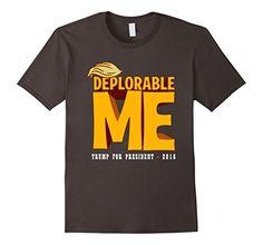 Men's Trump Me - Deplorable President T-Shirts 3XL Asphal...
