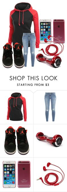 """RED DAY"" by aneysajalexander on Polyvore featuring Frame Denim, NIKE and FOSSIL"