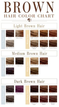 24 Shades Of Brown Hair Color Chart To Suit Any Complexion brown color hair chart - Brown Things Brown Hair Shades, Brown Hair With Blonde Highlights, Hair Color Shades, Ombre Hair Color, Light Brown Hair, Light Hair, Cool Hair Color, Brown Hair Colors, Hair Color For Dark Skin