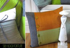 If you like to make pillow covers and other crafty things you'll probably love this link. Includes free patterns.
