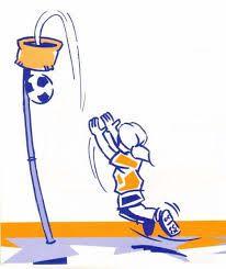 Korfbal - www.activitheek.nl En hoppa! Weer een bal door de korf! Wie wint dit potje korfbal?