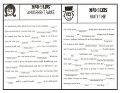 photograph regarding Printable Mad Libs Sheets for Adults named outrageous libs for grownups